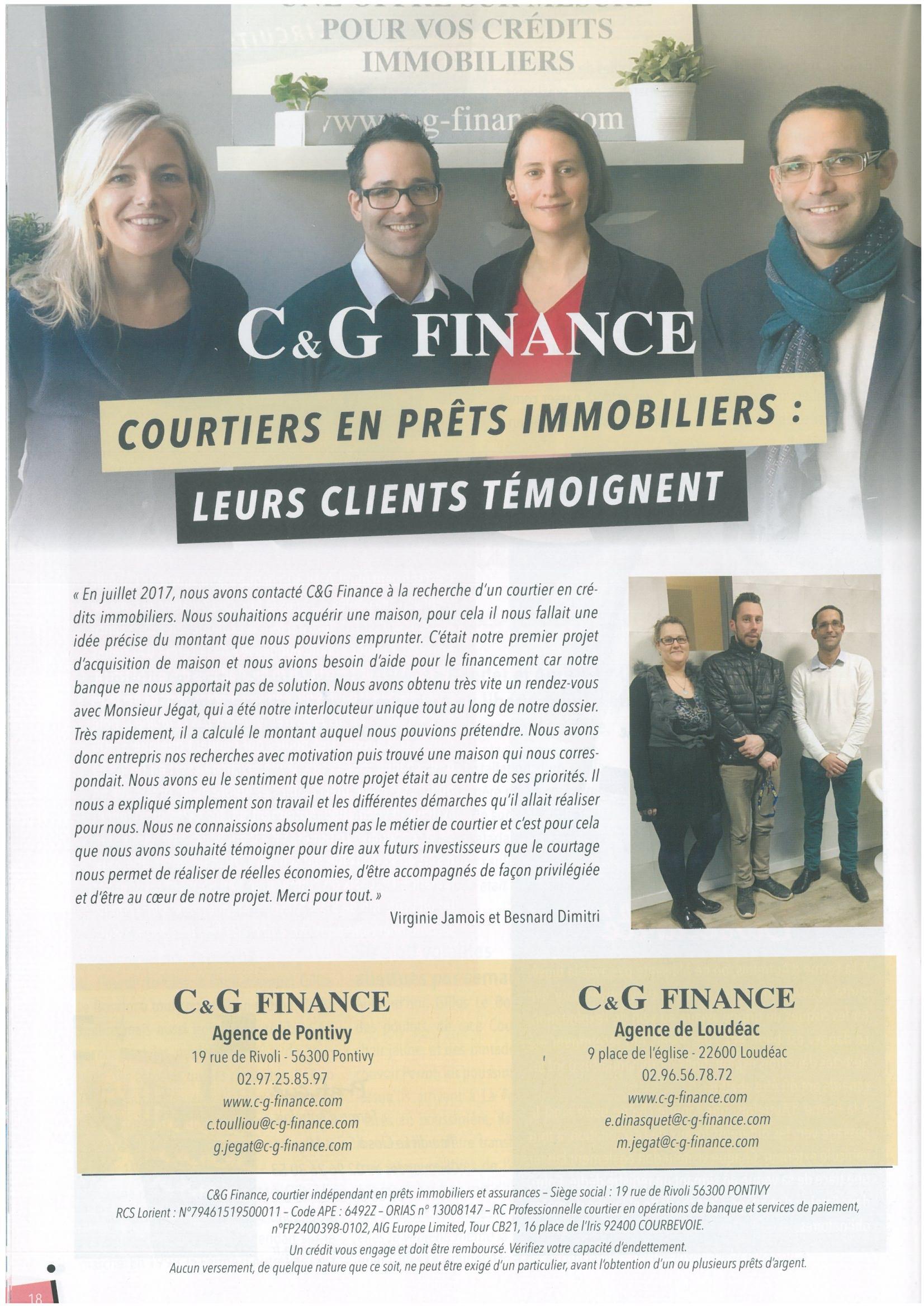 C&G FINANCE: Leurs clients témoignent.