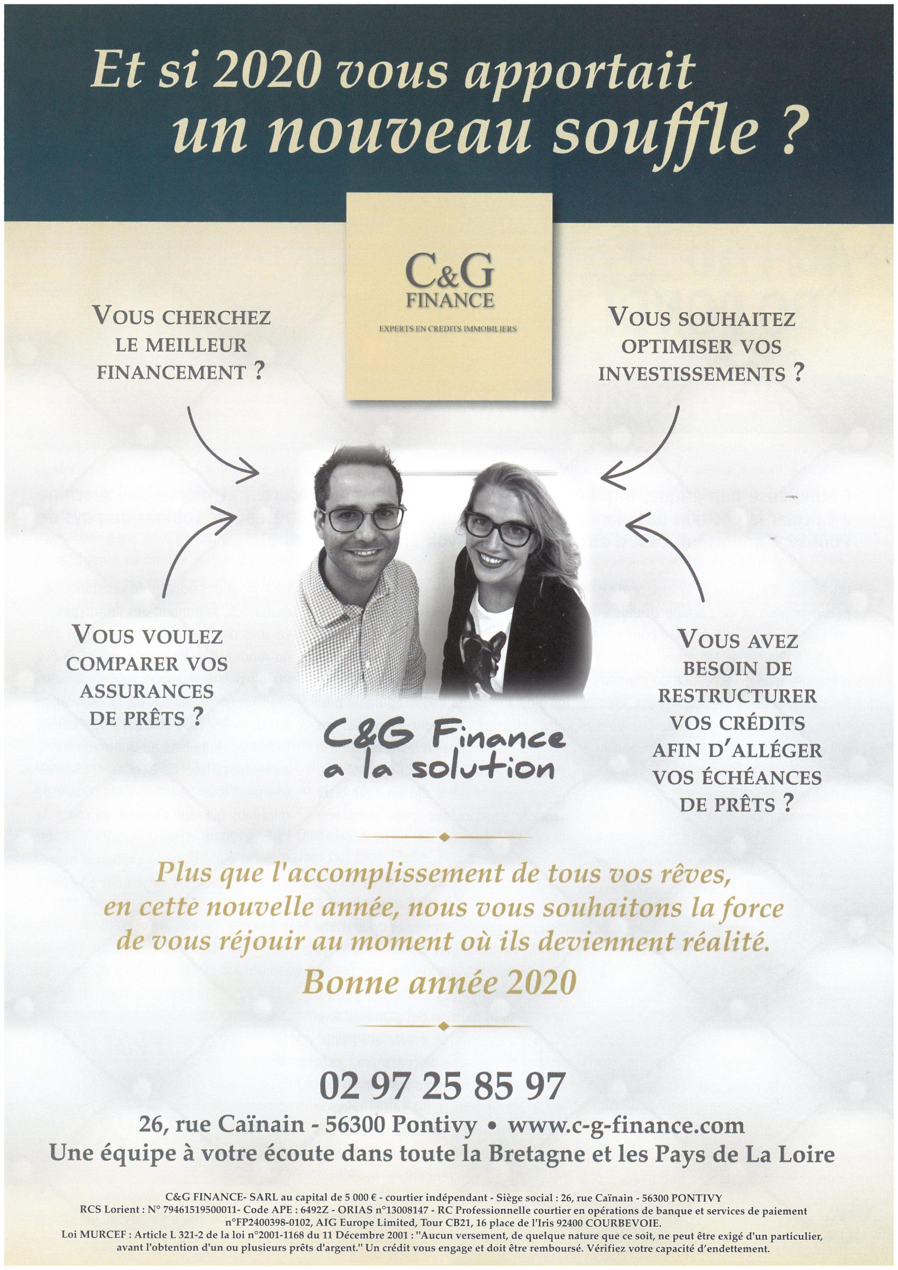 L'équipe C&G Finance vous souhaite ses meilleurs vœux 2020 !!